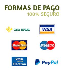 Transferencia Caja Rural, VISA, Mastercard, Paypal